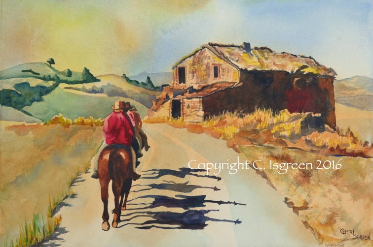 """Along the Tuscan Trail"" $500"