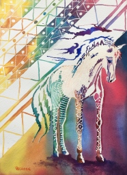 "Dream Horse #1a ""African Queen"" 14""x10"" $350"