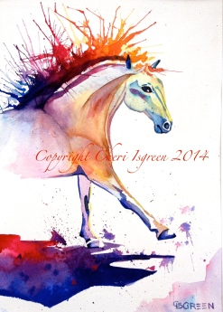 """""""Dancer"""" watercolor, 16""""X20"""" $350"""