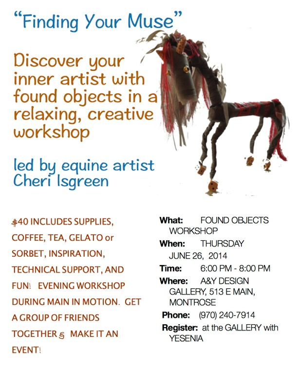 Flyer on found object workshop
