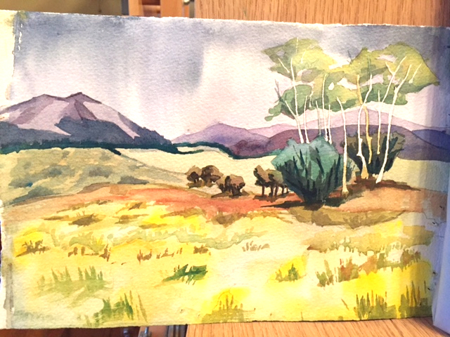 color study- small watercolor painting