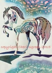"""""""Dream Horse #4, Carousel"""" copyright Cheri Isgreen 2015"""