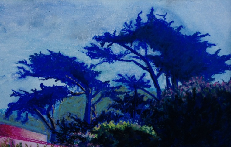 """Golden Gate Park""  pastel, copyright C Isgreen, 12"" X 15"" $125"