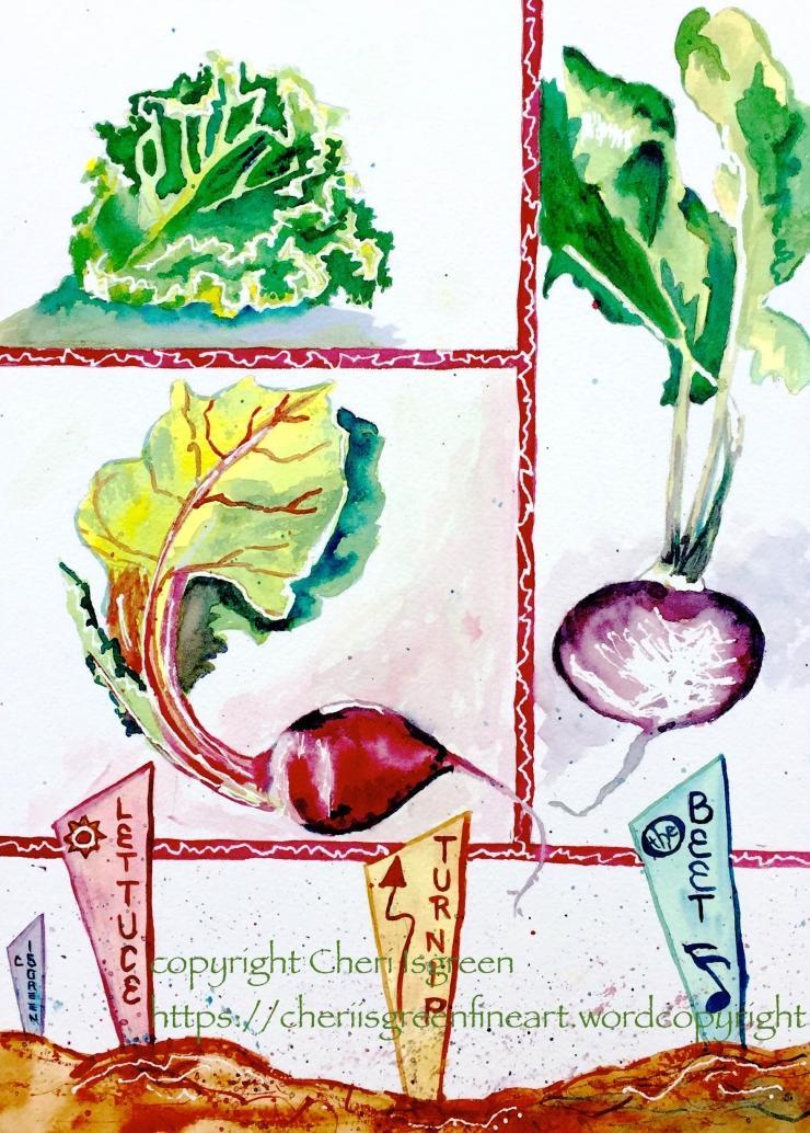 """Lettuce Turnip da Beet""  copyright C Isgreen"