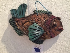 """Green & Copper Fish"" copyright C Isgreen $70"