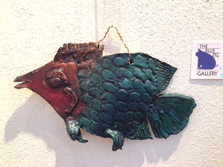 """Blue Fish""  copyright C Isgreen $60"