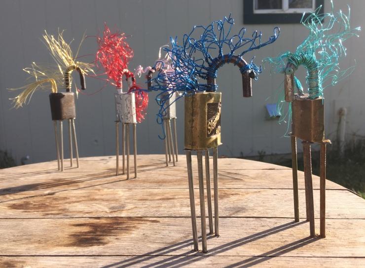 """Lock, Stock, & Barrel""  (detail of grouping of 2 horses), mixed media sculpture, copyright Cheri Isgreen, 2015, $200"