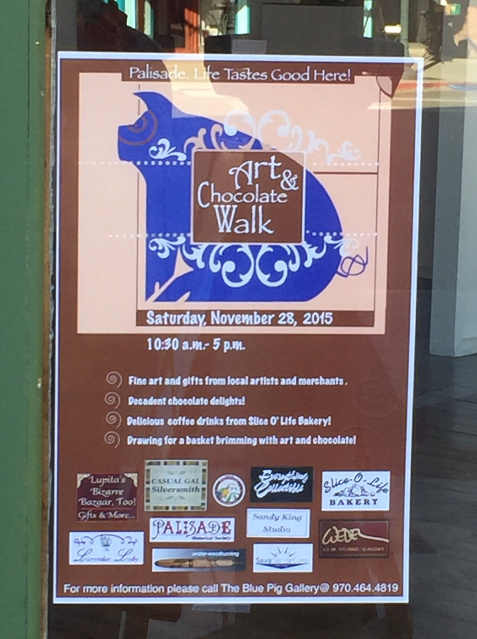 Art & Chocolate at the Blue Pig Gallery, Palisade, CO