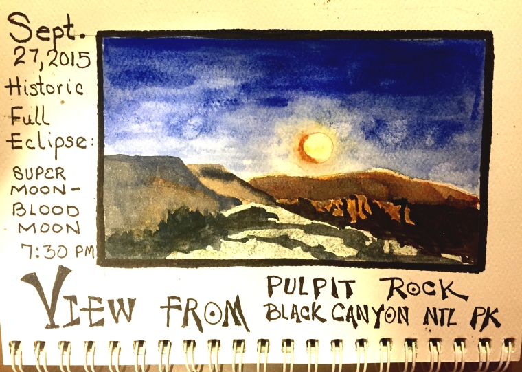 """Full Moon Eclipse over Black Canyon"""